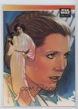 1993 Topps Star Wars Galaxy - [Base] #NoN - Special Guest Artist Subset Checklist - Leia Organa
