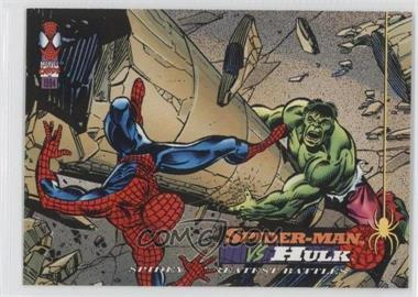 1994 Fleer Marvel Cards The Amazing Spider-Man - [Base] #107 - Spider-Man vs Hulk