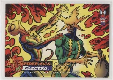 1994 Fleer Marvel Cards The Amazing Spider-Man - [Base] #108 - Spider-Man vs Electro