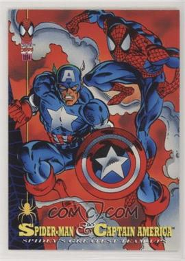 1994 Fleer Marvel Cards The Amazing Spider-Man - [Base] #90 - Spider-Man and Captain America
