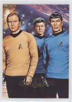 Captain Kirk, Spock, Dr. McCoy