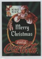 Santa Quiets A Frisky Schnauzer