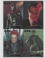 Batman, Two-Face, Riddler, Robin