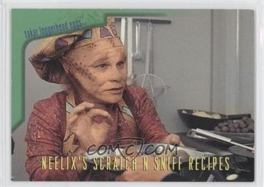 1995 SkyBox Star Trek: Voyager Season One Series 2 - Neelix's Scratch N Sniff Recipes #R3 - Takar Loggerhead Eggs, with Asparagus Chili Sauce