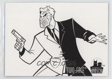 1995 Skybox The Adventures of Batman & Robin - Coloring Cards #C5 - Two-Face