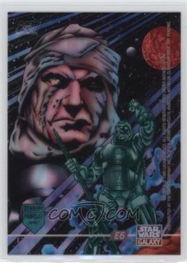 1995 Topps Star Wars Galaxy Series 3 - ClearZone #E6 - Dengar