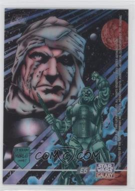 1995 Topps Star Wars Galaxy Series 3 - ClearZone #E6 - Dengar