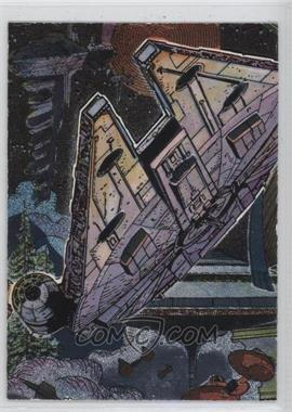 1995 Topps Star Wars Galaxy Series 3 - Etched Foil #14 - Millennium Falcon