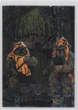 1995 Topps Star Wars Galaxy Series 3 - Etched Foil #15 - Wicket W. Warrick
