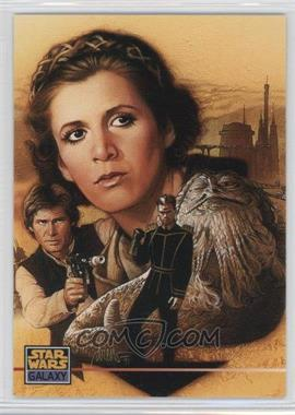 1995 Topps Star Wars Galaxy Series 3 - Promos #000 - Princess Leia Organa, Han Solo, Jabba The Hutt