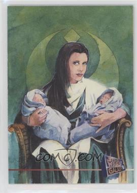 1995 Topps Star Wars Galaxy Series 3 - Promos #P7 - Leia Organa, Jacen Solo, Jania Solo