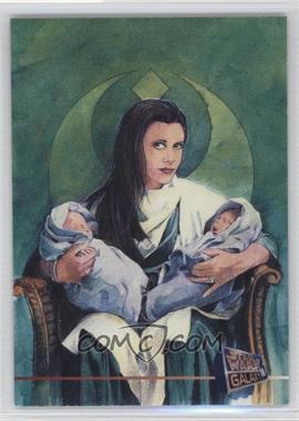 1995 Topps Star Wars Galaxy Series 3 - Promos #P7 - Leia Organa, Jacen Solo, Jania Solo