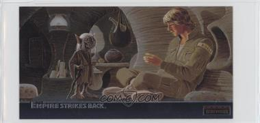 1995 Topps Star Wars: The Empire Strikes Back Widevision - Finest Chromium #C-5 - Wizened Jedi Master Yoda...