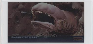 1995 Topps Star Wars: The Empire Strikes Back Widevision - Finest Chromium #C-6 - The Tiny Millennium Falcon Barely Escapes...