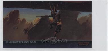 1995 Topps Star Wars: The Empire Strikes Back Widevision - Finest Chromium #C-9 - Luke Hangs On For Dear Life...