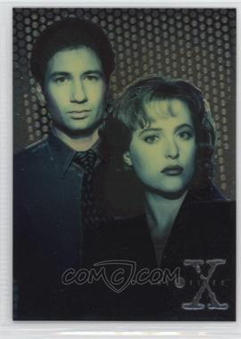 1995 Topps The X Files Season 1 - Finest Chromium #X1 - Agents Mulder and Scully