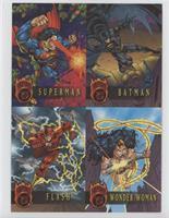 Superman, Batman, Flash, Wonder Woman
