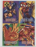 Wolverine, Spider-Man, Human Torch, Iron Man [Noted]
