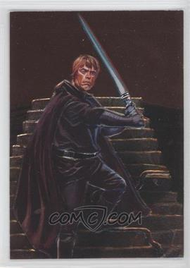 1996 Topps Finest Star Wars - Embossed Foil #F2 - Luke Skywalker