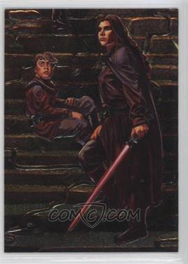 1996 Topps Finest Star Wars - Embossed Foil #F5 - Anakin Solo, Princess Leia Organa