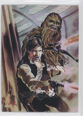 1996 Topps Finest Star Wars - Matrix #1 - Han Solo & Chewbacca