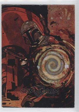 1996 Topps Finest Star Wars - Matrix #4 - Boba Fett