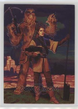 1996 Topps Star Wars: Shadows of the Empire - [Base] #74 - Leia & Chewbacca