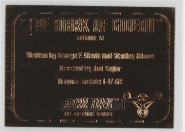 "1999 Skybox Star Trek: The Original Series Season 3 - Gold Plaques #G72 - ""The Mark of Gideon"""