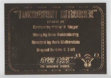 "1999 Skybox Star Trek: The Original Series Season 3 - Gold Plaques #G79 - ""Turnabout Intruder"""