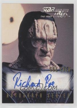 1999 Skybox Star Trek the Next Generation Season 7 - Autographs #A13 - Richard Poe as Gul Evek