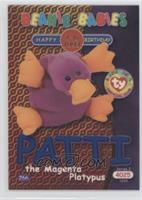 Birthday or Rookie - Patti the Magenta Platypus