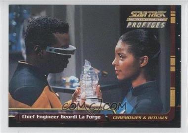 2000 Skybox Star Trek: The Next Generation Profiles - [Base] #60 - Geordi LaForge