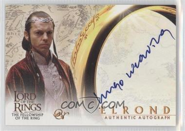 2001 Topps The Lord of the Rings: The Fellowship of the Ring - Autographs #HUWE - Hugo Weaving as Elrond