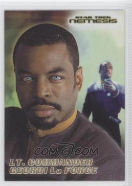 2002 Rittenhouse Star Trek: Nemesis - Casting Call Cel Cards #CC6 - Lt. Commander Geordi LaForge