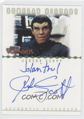 2002 Rittenhouse Star Trek: Nemesis - Romulan History Autographs #RA9 - Judson Scott as Rekar
