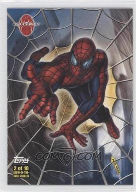 2002 Topps Spider-Man: The Movie - Glow-in-the-Dark Stickers #2 - Spider-Man