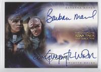 Barbara March as Lursa, Gwynyth Walsh as B'Etor