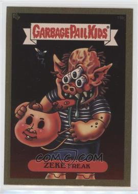 2003 Topps Garbage Pail Kids All-New Series 1 - Foil Stickers - Gold #15b - Zeke Freak