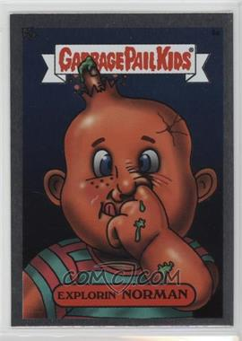 2003 Topps Garbage Pail Kids All-New Series 1 - Foil Stickers - Silver #9a - Explorin' Norman