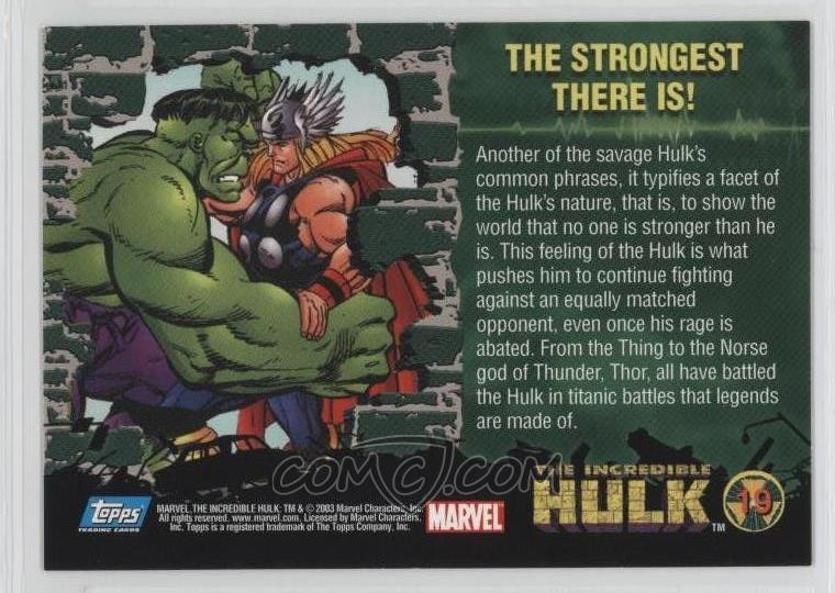 2003 Topps The Incredible Hulk - [Base] #19 - The Strongest