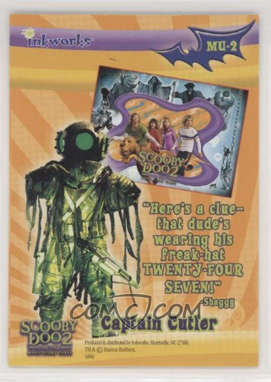 2004 Inkworks Scooby Doo 2 Monsters Unleashed Monsters Unleashed Puzzle Mu 2 Captain Cutler