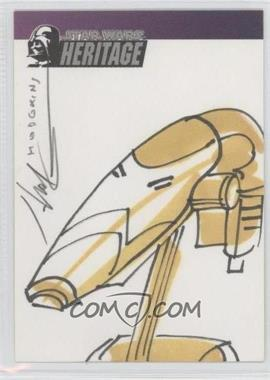 2004 Topps Star Wars Heritage - Artist Sketch #JHBD - James Hodgkins (Battle Droid) /1