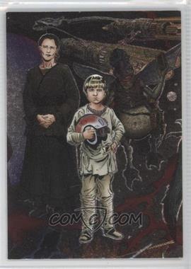 2004 Topps Star Wars Heritage - Etched Foil Group 2 #3 - Anakin Skywalker, Shmi Skywalker, Watto