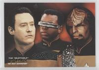 Lt. Commander Data, Lt. Commander Geordi La Forge, Lt. Commander Worf