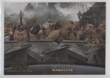 2005 Topps Star Wars Revenge Of The Sith Base 75 Planets Kashyyyk