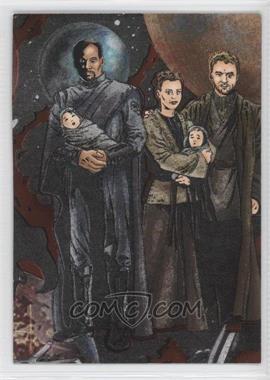 2005 Topps Star Wars: Revenge of the Sith - Etched-Foil #1 - Bail Organa, Princess Leia, Beru Lars, Luke Skywalker, Owen Lars