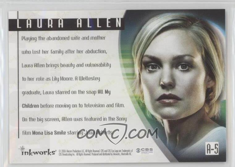 2006 Inkworks The 4400 Series 1 - Autographs #A-5 - Laura Allen as