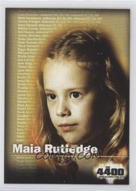 2006 Inkworks The 4400 Series 1 - [Base] #5 - Maia Rutledge