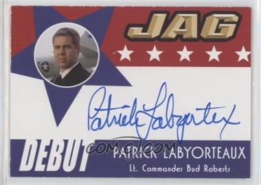 2006 TK Legacy JAG Premiere Edition - Debut Autographs #D11 - Patrick Labyorteaux as Lt. Commander Bud Roberts