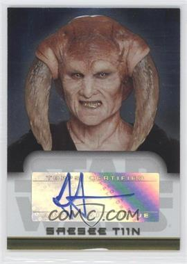 2006 Topps Star Wars Evolution Update Edition - Autographs #JJST - Jesse Jensen as Saesee Tiin